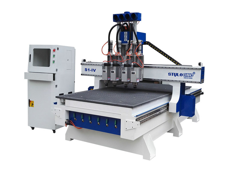 3 Axis CNC Router with Four Spindles