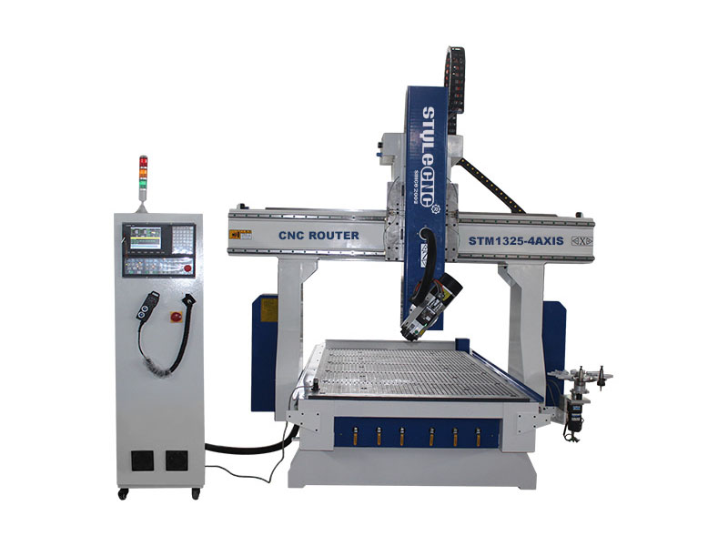 4 Axis CNC Router with Automatic Tool Changer Spindle